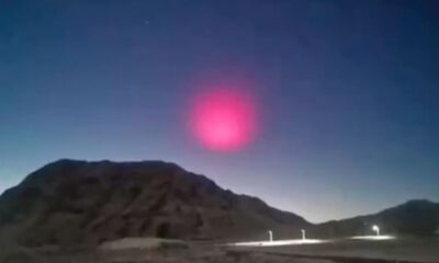 A giant pink ball cloud appeared over the site of a meteorite in China 35