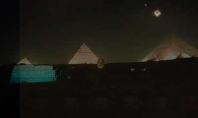 On December 4, many UFOs appeared at night over the pyramids of Giza in Egypt 96