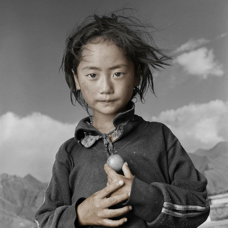Tibetan DNA is programmed to sustain life on the roof of the world.  Photo by Phil Borges
