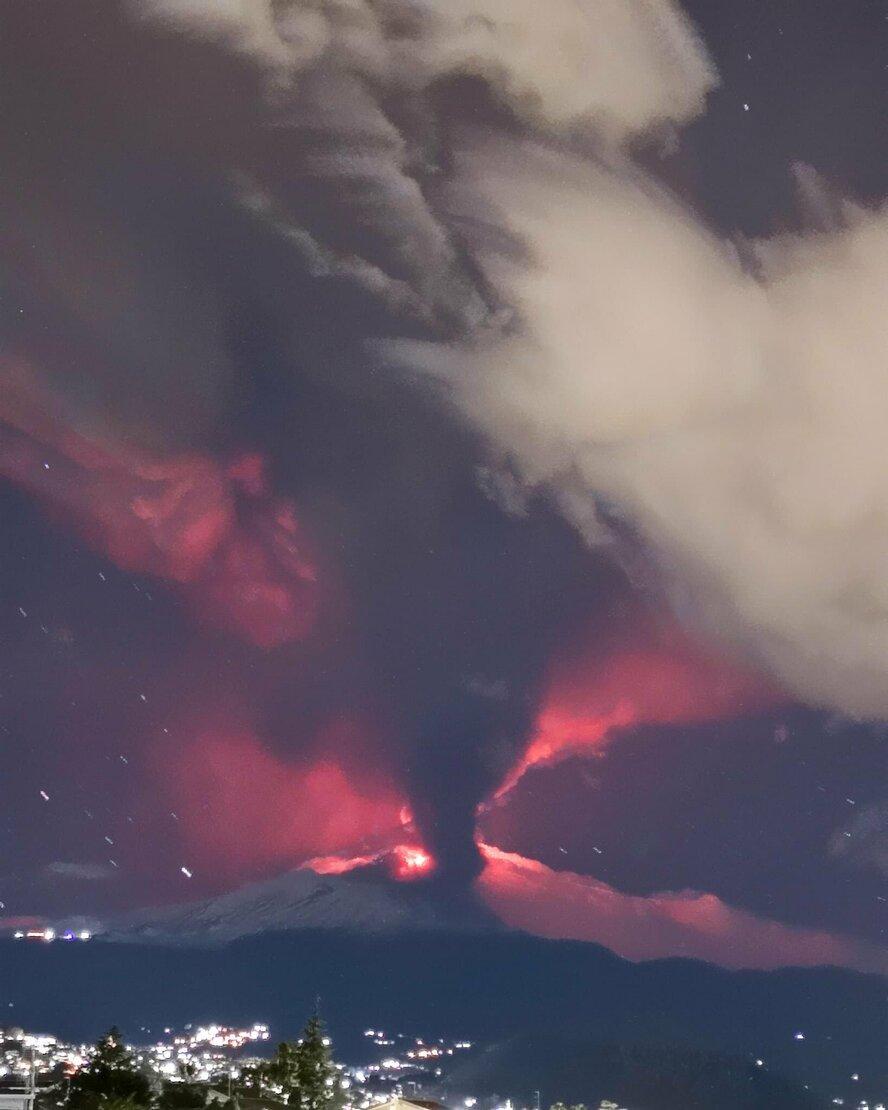 Etna is one of the highest (3329 meters) active volcanoes in Europe