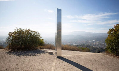 Monolith Triplets: New metal monolith of unknown origin appears in California 27