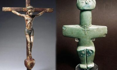 Who wore crosses around their necks 3000 years before Christians 11