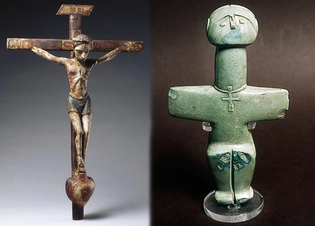 Who wore crosses around their necks 3000 years before Christians 21
