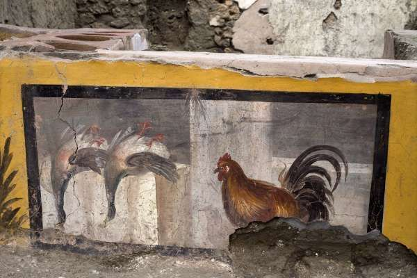 The ancient Romans also loved take-away food. For the first time, a hot fast food restaurant unearthed in Pompeii 98