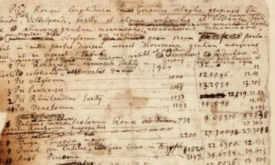 The manuscripts in which Isaac Newton tried to determine the date of the Apocalypse will be sold at auction 93