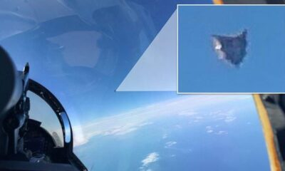 UFO photo taken by a pilot using a mobile phone released from classified US military report 1