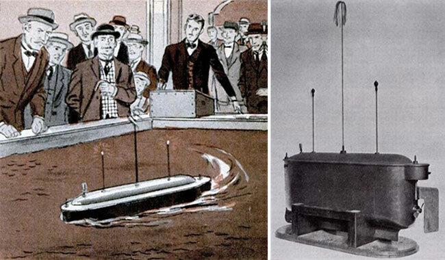 Nikola Tesla's radio-controlled boat.