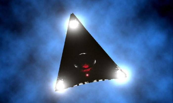 Another TR-3B? Huge triangular UFO flew over New York 87