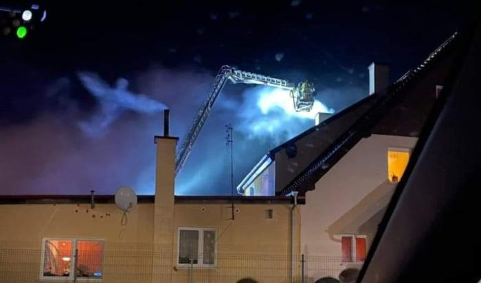 Was an Angel filmed over a house extinguished by firefighters? 1