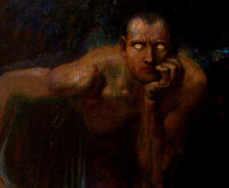 Franz von Stuck.  Lucifer