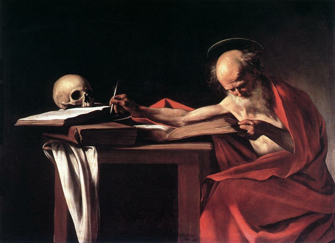 Caravaggio.  Saint Jerome