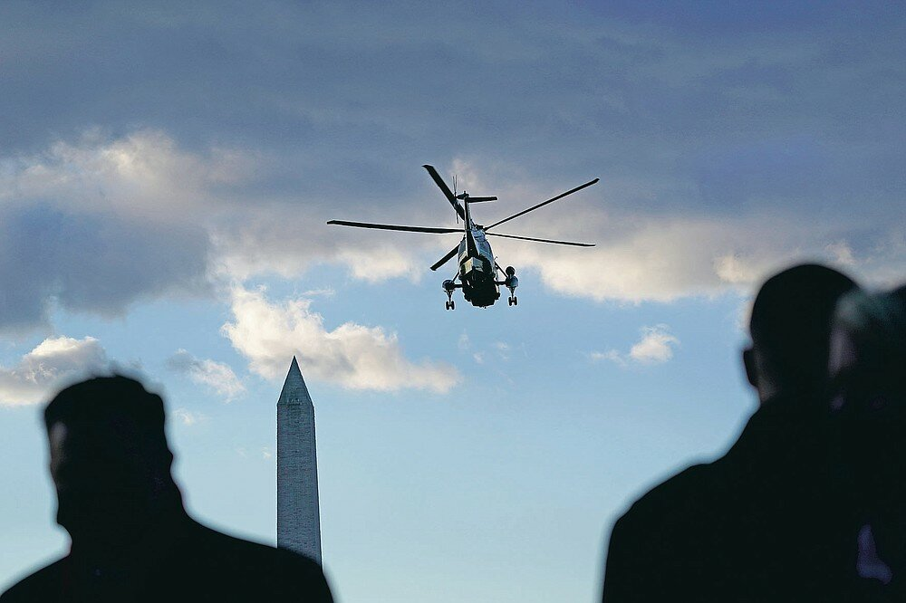 Why did the National Guard turn their backs on Biden, and why did the Washington Monument go out?