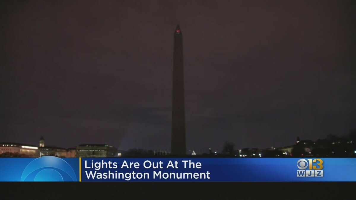 This is how the Washington Monument looks tonight