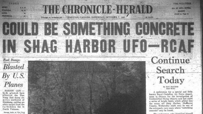 """Canadian Roswell"": Jacques-Yves Cousteau family investigating a UFO crash near Shag Harbor 100"