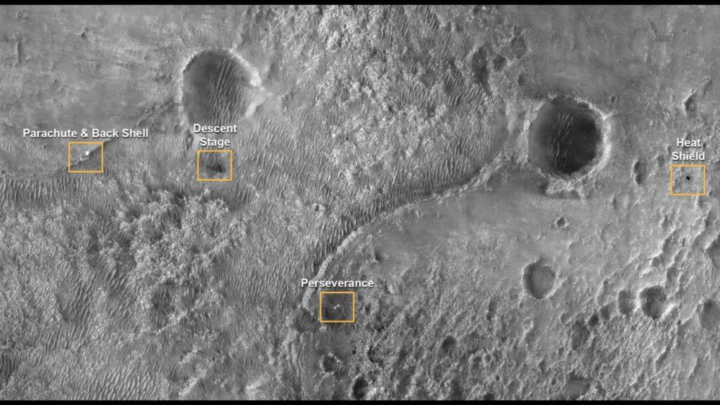 Strange objects captured by the camera of the Perseverance rover 5