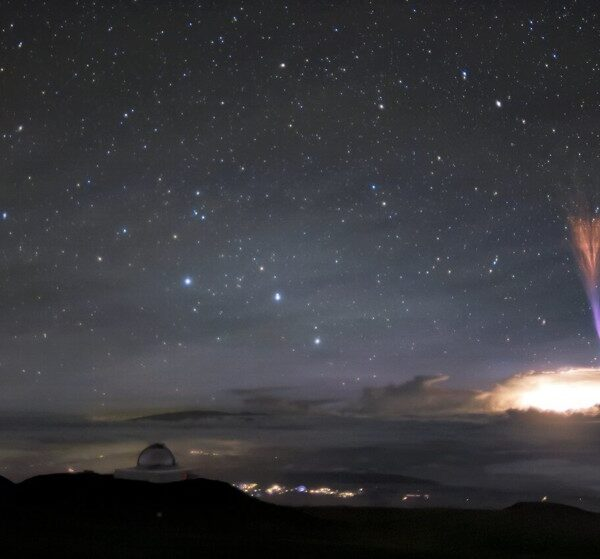 In Hawaii, two rare phenomena in the sky were noticed at once 2