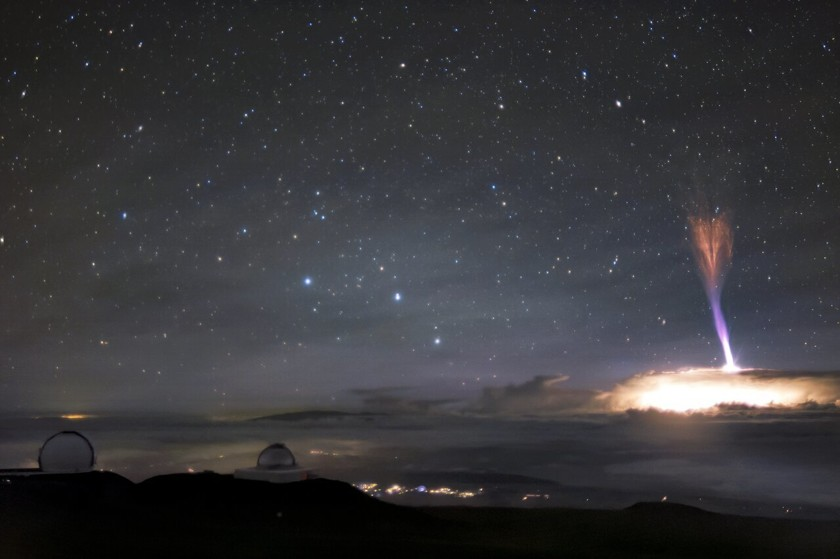 In Hawaii, two rare phenomena in the sky were noticed at once 1