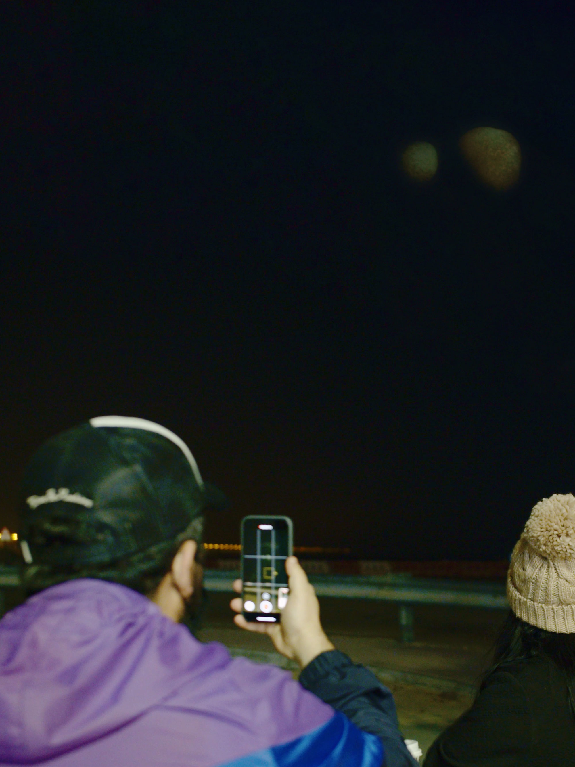 Twin planets appeared in the night sky over Dubai