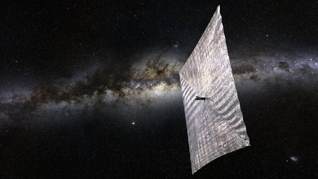 According to Avi Loeb, Oumuamua is a solar sail craft.  This explains many of the features of the asteroid's brightness, and the jumps in brightness can be associated with the maneuvering of the spacecraft.  Photo: artistic representation of the solar sail project of the Planetary Society / © Planetary Society