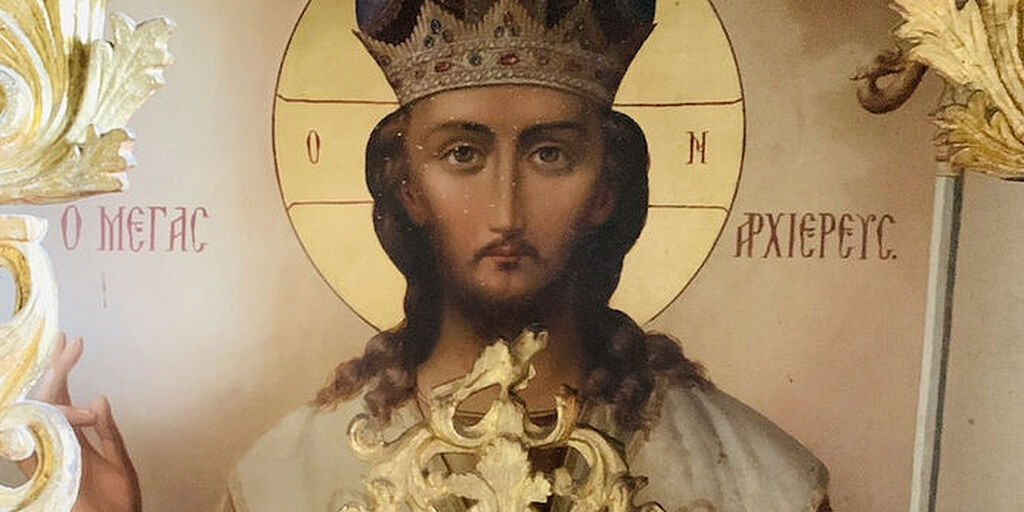 ICON OF CHRIST THE GREAT HIGH PRIEST MOVING ON ITS OWN