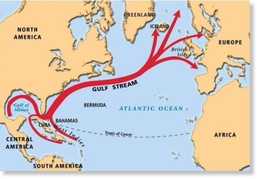 Unusual oceanic anomaly discovered in the Gulf Stream is a sign of global climate change and New Ice Age Apocalypse? 7