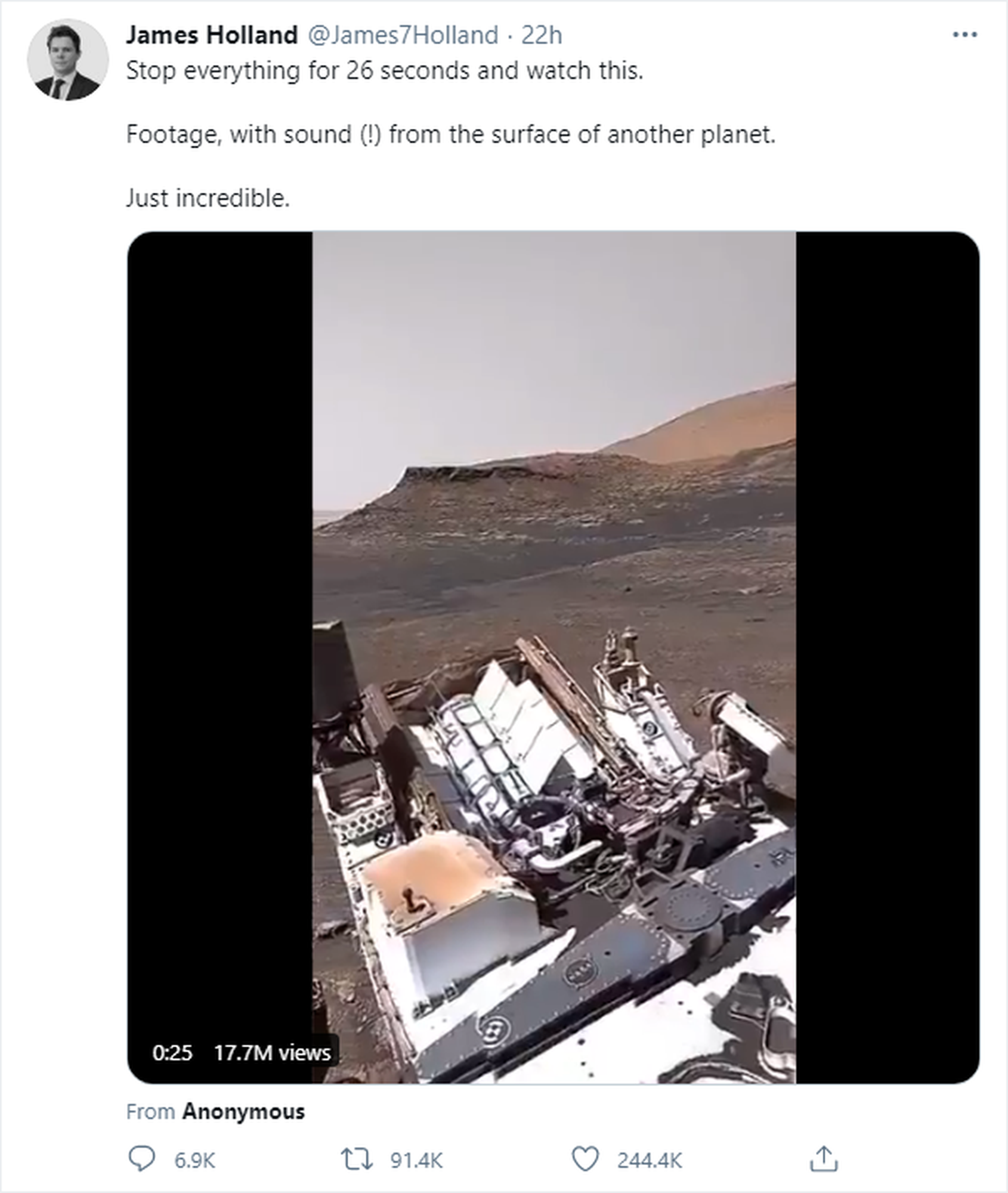 Mars Video Turned Out To Be Fake
