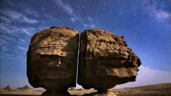 Sawed rocks: The mystery of an ancient stone in Saudi Arabia mysteriously cut in half 16