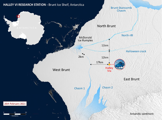 What is going on with the giant, hundred-kilometer crack in the Antarctica glacier? 2