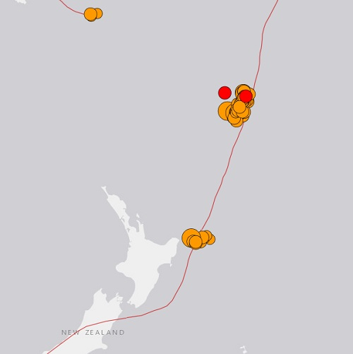 A pole shift is coming: Abnormal seismic activity at a fault near New Zealand. Earthquake 8.2 off the Kermadec Islands 3