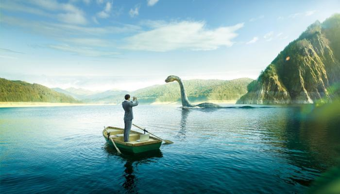 Experts have found a clue to the origin of the Loch Ness monster: common optical illusion? 1