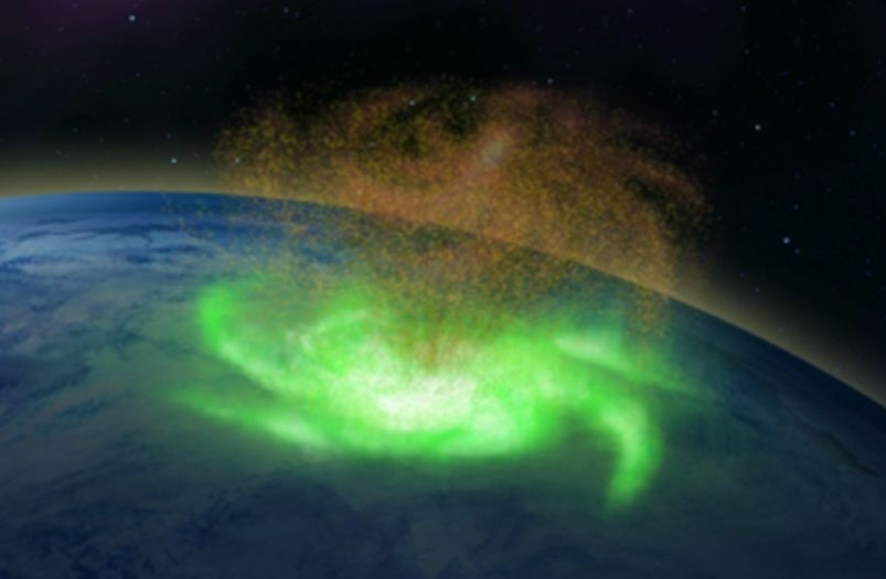 For the first time in history, a space hurricane over the North Pole was observed by scientists 5