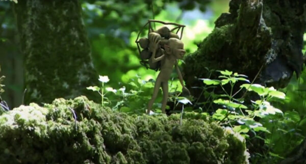 Fairy Hunter captures tiny green men in the forest 8