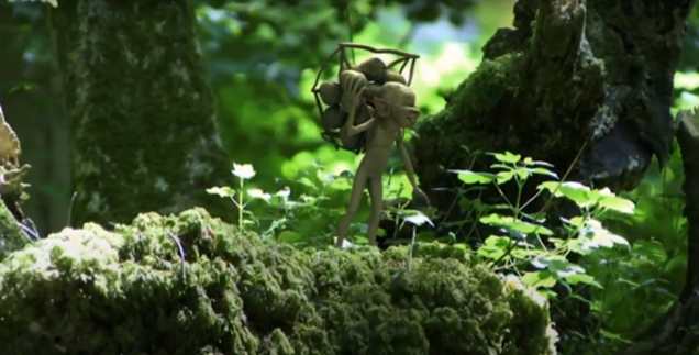 Fairy Hunter captures tiny green men in the forest 1