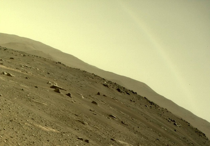 """Perseverance Rover captures a """"rainbow"""" on Mars 3"""