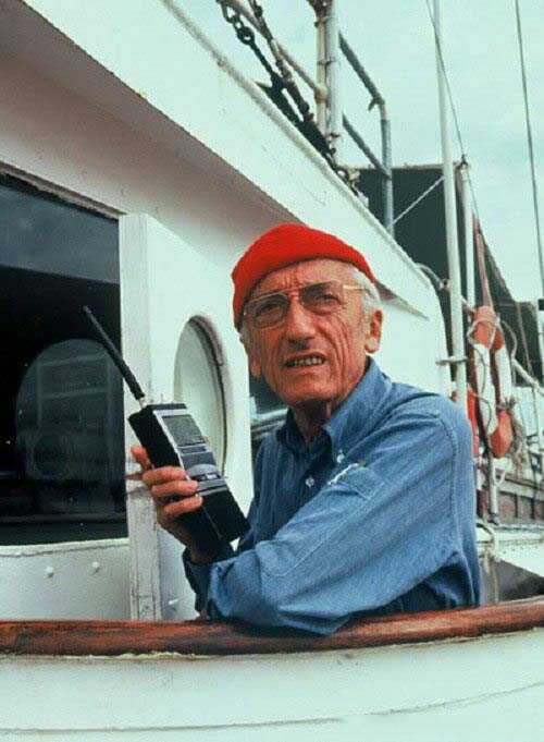 Jacques - Yves Cousteau.  Photos from open sources