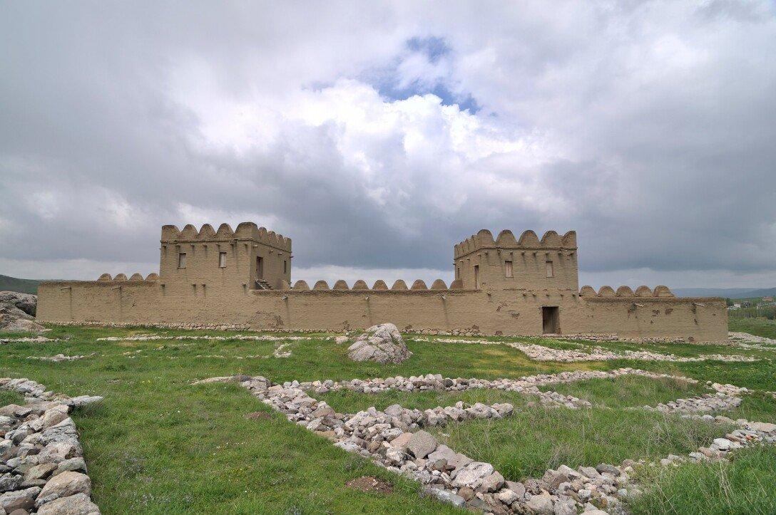 fortress, Turkey, stones, grass, photo