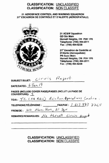 Canadian Military UFO Report