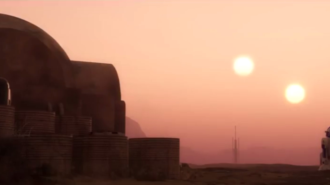 Planet Tatooine from Star Wars