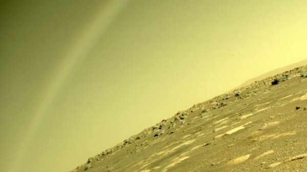 "Perseverance Rover captures a ""rainbow"" on Mars 8"