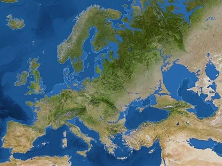 Coastal European countries will be flooded.