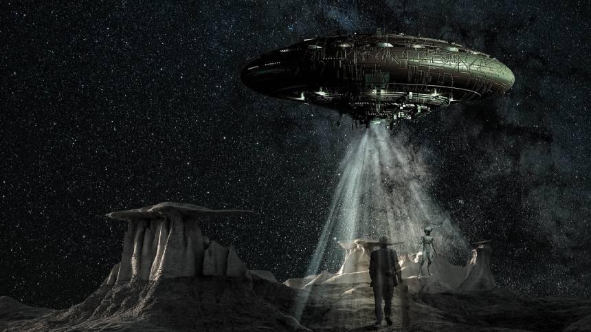 Боб Дин на инопланетном космическом корабле посетил другую планету, где узнал будущее человечества.