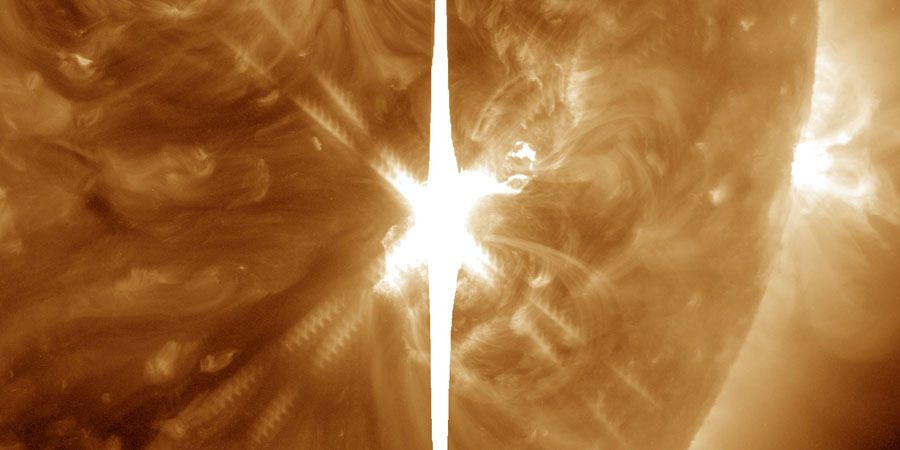 Recent solar flares have been directed toward Earth: A magnetic storm begins 1