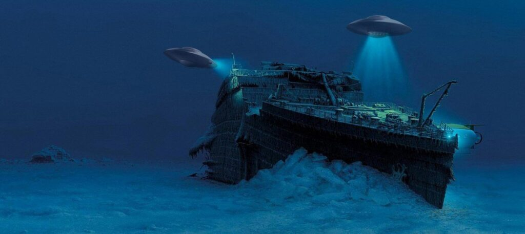 """A scientist put forward the version that the """"Titanic"""" was sunk by aliens 1"""