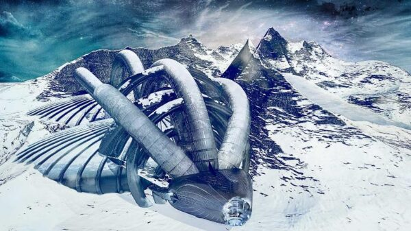 Two UFOs were discovered in the middle of a rocky area in Antarctica 8