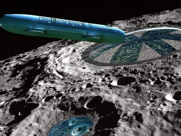 Three giant UFOs spotted near the moon in NASA images 15