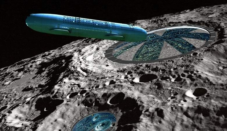 Three giant UFOs spotted near the moon in NASA images 14