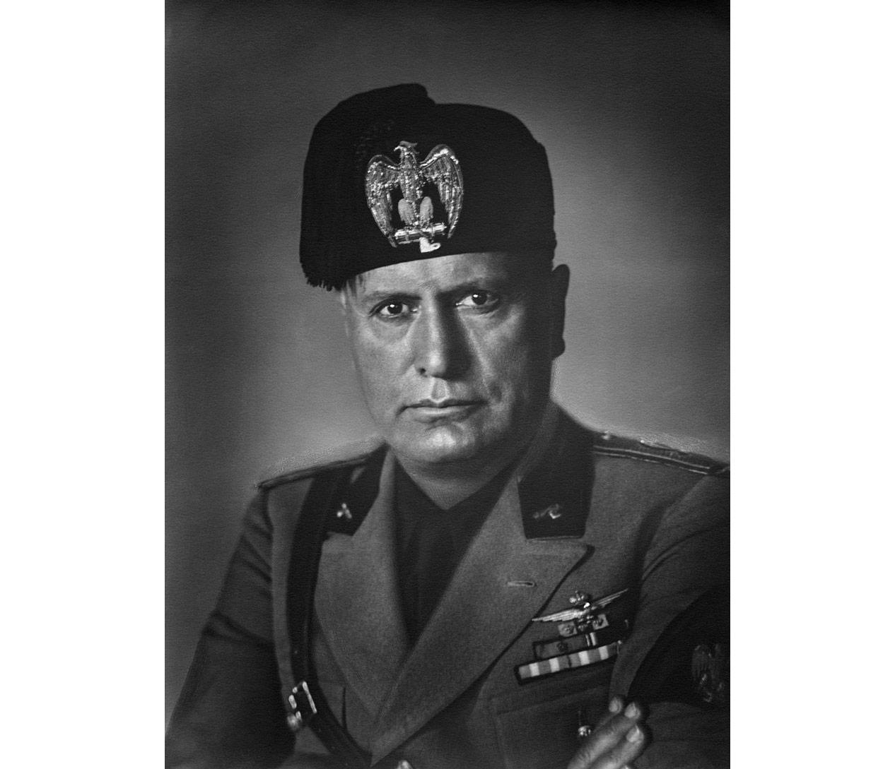Duce of Fascism Benito Mussolini.  Photo © wikipedia