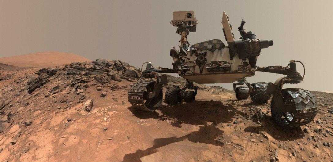 Curiosity, rover, Mars surface, photo