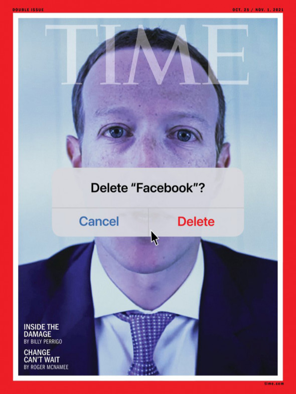 """Zuckerberg is featured on Time's cover with the words """"Delete Facebook?"""" after the biggest disruption in the history of social networks 2"""