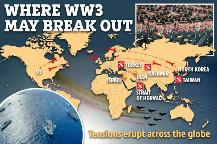 World War III map: Eight Potential Locations are identified For War With Unexpected Twist 2